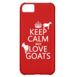 Keep Calm and Love Goats (any background color) iPhone 5C Cover