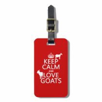 Keep Calm and Love Goats Bag Tag