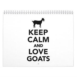 Keep calm and love Goats Calendar
