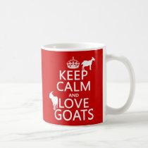 Keep Calm and Love Goats Coffee Mug