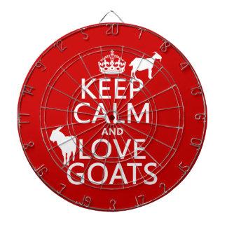 Keep Calm and Love Goats Dartboard