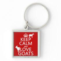 Keep Calm and Love Goats Keychain