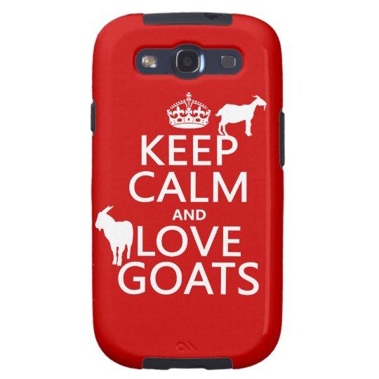 Keep Calm and Love Goats Samsung Galaxy SIII Cover