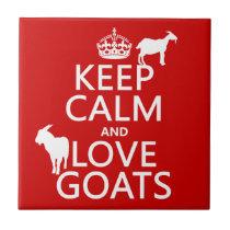 Keep Calm and Love Goats Tile
