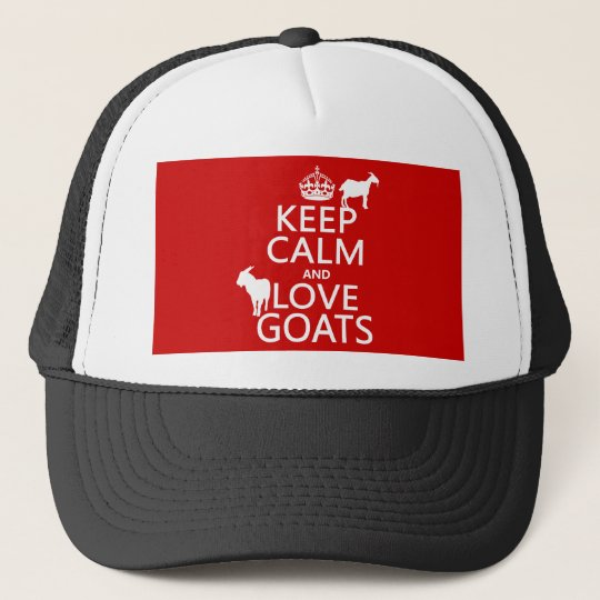 Keep Calm and Love Goats Trucker Hat