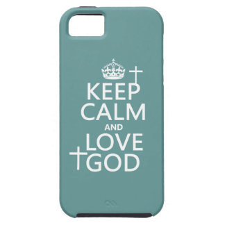 Keep Calm and Love God - all colors iPhone SE/5/5s Case