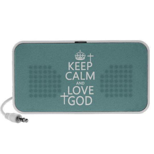 Keep Calm and Love God - all colors Mini Speaker