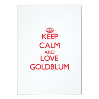 Keep calm and love Goldblum 5x7 Paper Invitation Card