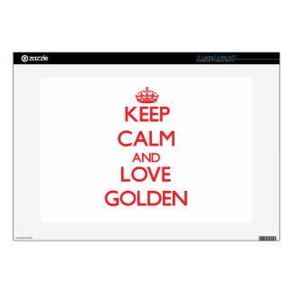 Keep calm and love Golden Laptop Decal