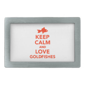 Keep calm and love goldfishes belt buckle