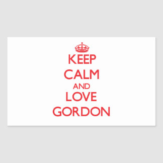 Keep calm and love Gordon Rectangle Sticker