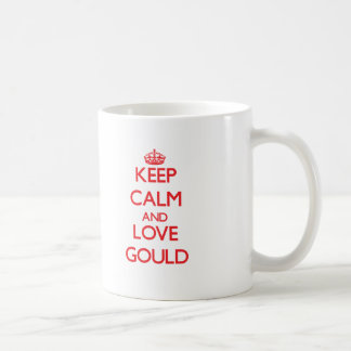 Keep calm and love Gould Coffee Mugs