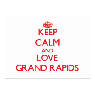 Keep Calm and Love Grand Rapids Business Card Template