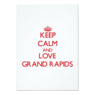 "Keep Calm and Love Grand Rapids 5"" X 7"" Invitation Card"