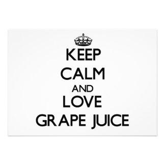 Keep calm and love Grape Juice Invitation
