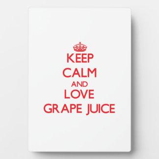 Keep calm and love Grape Juice Display Plaque