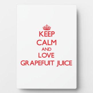 Keep calm and love Grapefuit Juice Display Plaques