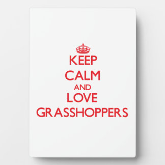Keep calm and love Grasshoppers Photo Plaques