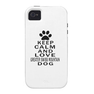 Keep Calm And Love Greater Swiss Mountain Dog. iPhone 4 Case