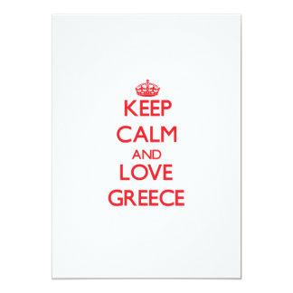 Keep Calm and Love Greece Card