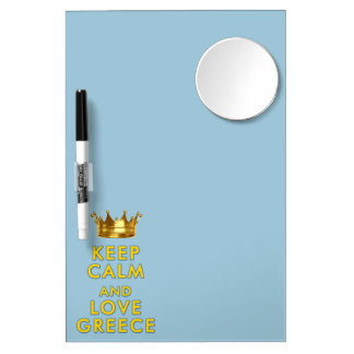 Keep Calm and love Greece slogan Dry Erase Board With Mirror