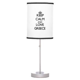 Keep Calm and Love Greece Table Lamp