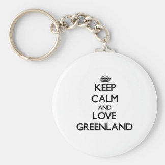 Keep Calm and Love Greenland Keychains