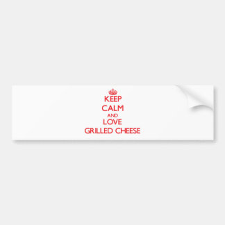 Keep calm and love Grilled Cheese Bumper Sticker
