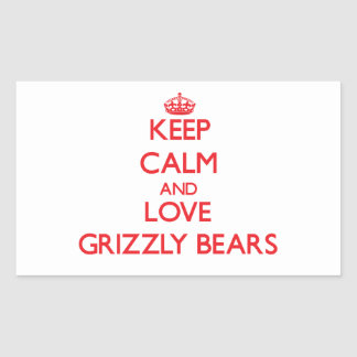 Keep calm and love Grizzly Bears Sticker