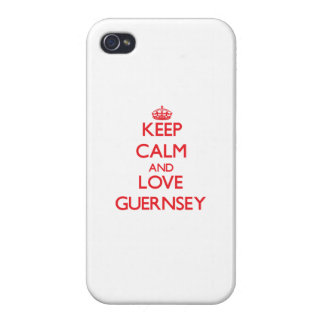Keep Calm and Love Guernsey iPhone 4/4S Cover