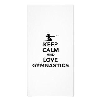 Keep calm and love gymnastics card