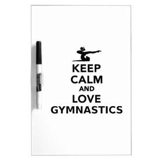 Keep calm and love gymnastics Dry-Erase board
