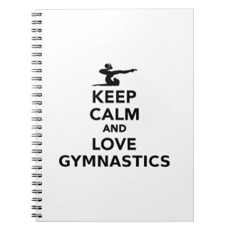 Keep calm and love gymnastics notebook