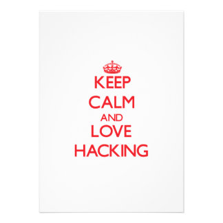 Keep calm and love Hacking Announcements
