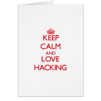 Keep calm and love Hacking Card
