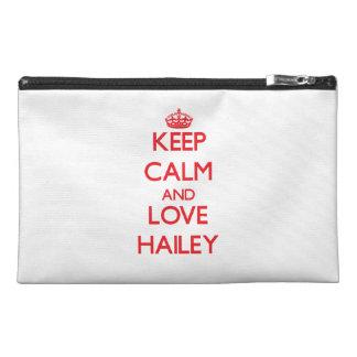 Keep Calm and Love Hailey Travel Accessory Bag
