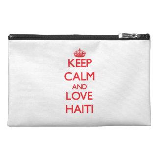 Keep Calm and Love Haiti Travel Accessory Bag