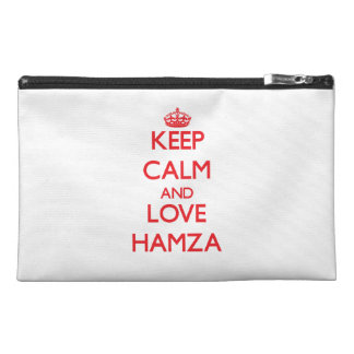 Keep Calm and Love Hamza Travel Accessory Bags