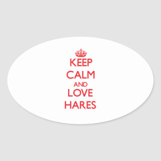 Keep calm and love Hares Stickers
