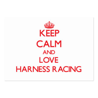 Keep calm and love Harness Racing Business Card Template