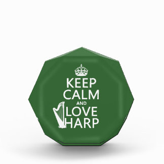 Keep Calm and Love Harp (any background color) Award