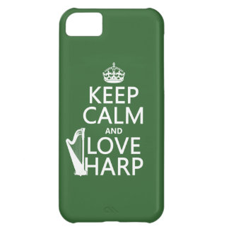 Keep Calm and Love Harp (any background color) iPhone 5C Cover
