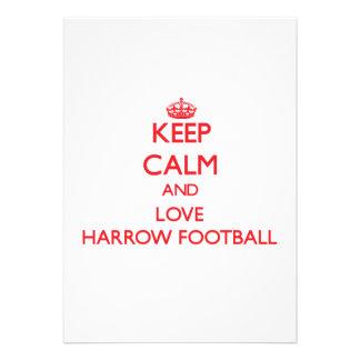 Keep calm and love Harrow Football Custom Invite