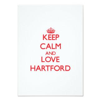 Keep Calm and Love Hartford 5x7 Paper Invitation Card