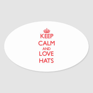 Keep calm and love Hats Stickers