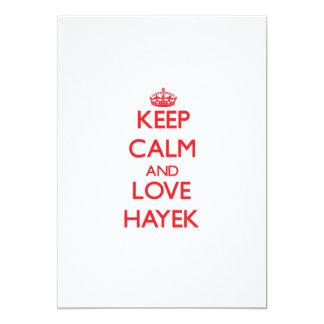 Keep calm and love Hayek 5x7 Paper Invitation Card