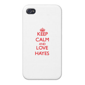 Keep calm and love Hayes Covers For iPhone 4