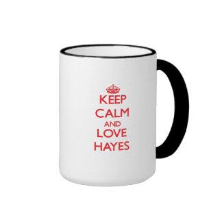 Keep calm and love Hayes Coffee Mugs