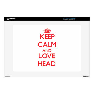 Keep calm and love Head Decal For Laptop