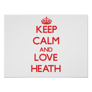 Keep calm and love Heath Print